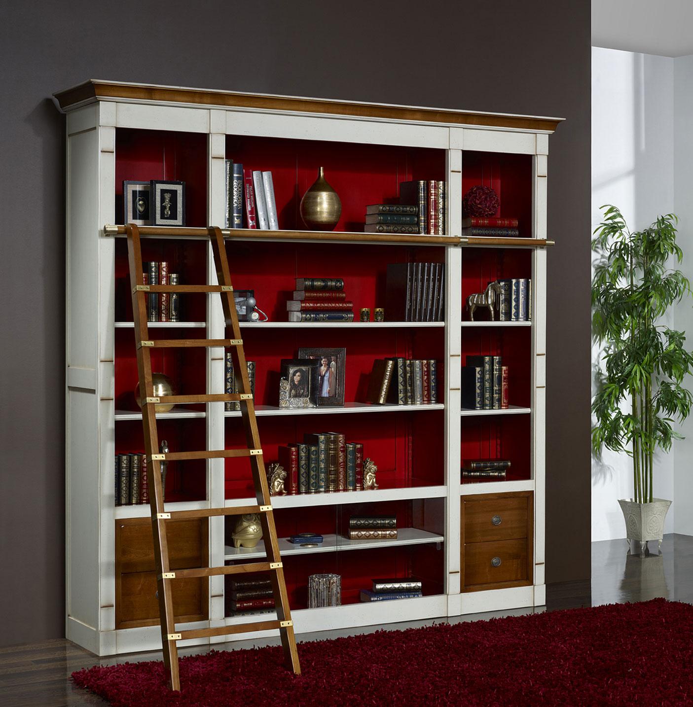 Meuble Tv Bibliothèque Blanc bibliothèque merisier - en savoir plus nous contacter