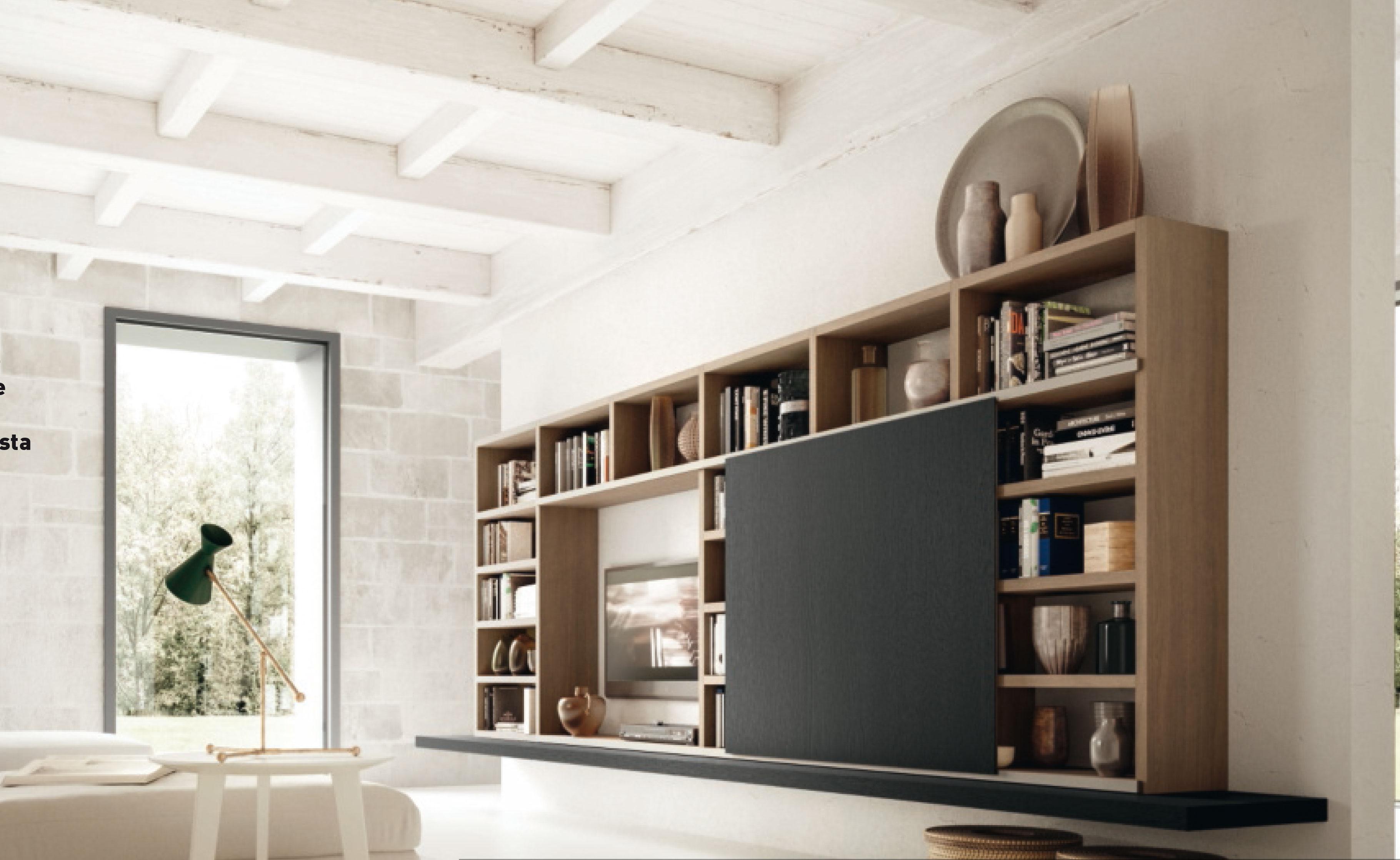 Meuble Tv Avec Bibliothèque bibliothèque suspendue avec espace tv - en savoir plus nous